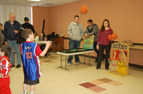 Basketball Tournament at Purim Party